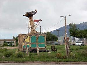 Wood Sculpture, Blanca, Colorado